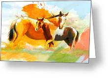 Horse Paintings 013 Greeting Card by Catf