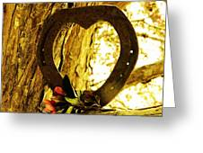 Horseshoe Love Greeting Card by Michelle Frizzell-Thompson