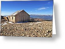 Horseshoe Mountain Mining Shack Greeting Card by Aaron Spong