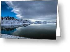 Horsetooth Reservoir Eastern Bank Greeting Card by Harry Strharsky