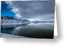 Horsetooth Reservoir Eastern Bank Greeting Card by Harry Strharsky