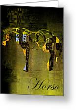 Horso - Sp085134243gr1tx Greeting Card by Variance Collections
