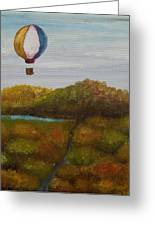 Hot Air Greeting Card by Anthony Cavins