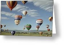 Hot Air Balloon Greeting Card by Jim Steinberg