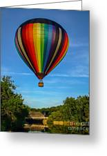 Hot Air Balloon Woodstock Vermont Greeting Card by Edward Fielding