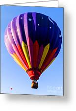 Hot Air Ballooning In Vermont Greeting Card by Edward Fielding