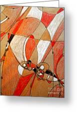 Hot Air Ballooning Greeting Card by Nancy Kane Chapman