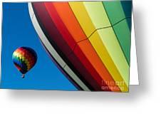 Hot Air Balloons Quechee Vermont Greeting Card by Edward Fielding