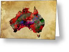 Hot Australia Map Greeting Card by Daniel Hagerman