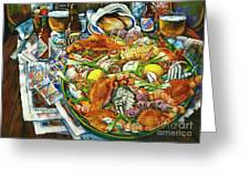 Hot Boiled Crabs Greeting Card by Dianne Parks