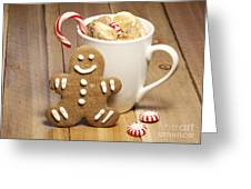 Hot Chocolate Toasted Marshmallows and a Gingerbread Cookie Greeting Card by Juli Scalzi