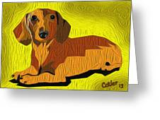 Hot Dog Greeting Card by GR Cotler