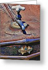 Hot Faucet Hood Ornament Greeting Card by Garry Gay