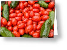 Hot Peppers And Cherry Tomatoes Greeting Card by James BO  Insogna