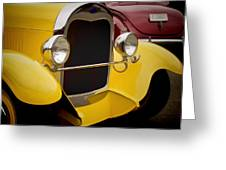 Hot Rod Fords Greeting Card by Ron Roberts