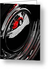 Hot Rod Hubcap Greeting Card by motography aka Phil Clark