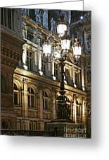 Hotel De Ville In Paris Greeting Card by Elena Elisseeva