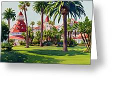 Hotel Del Coronado Greeting Card by Mary Helmreich