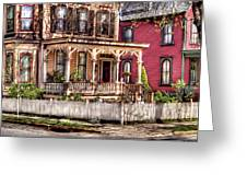 House - Country Victorian Greeting Card by Mike Savad