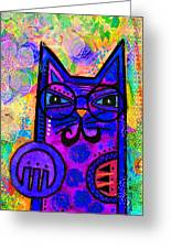 House Of Cats Series - Paws Greeting Card by Moon Stumpp