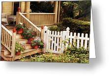 House - Rutherford NJ - My Grandmother's Garden  Greeting Card by Mike Savad