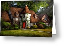 House - Westfield Nj - Fit For A King Greeting Card by Mike Savad