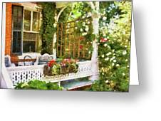 Houses - New Hope Pa - Come Stay With Us Greeting Card by Mike Savad
