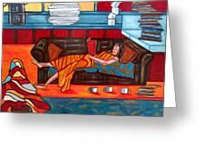Housework Greeting Card by Sandra Marie Adams