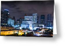 Houston City Lights Greeting Card by David Morefield