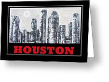 Houston Skyline 2 Greeting Card by Suzanne Theis