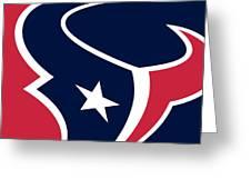 Houston Texans Greeting Card by Tony Rubino