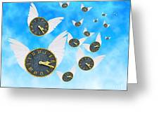 How Time Flies Greeting Card by Juli Scalzi