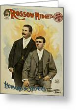 Howard And Stevens In Their Illustrated Songs Greeting Card by Aged Pixel