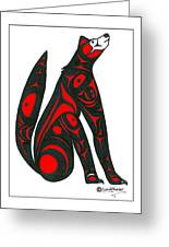 Howling Wolf Color Greeting Card by Speakthunder Berry