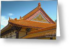 Hsi Lai Temple - 01 Greeting Card by Gregory Dyer
