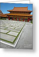 Hsi Lai Temple - 04 Greeting Card by Gregory Dyer