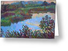 Huckleberry Line Trail Rain Pond Greeting Card by Kendall Kessler