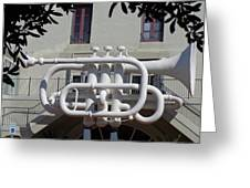 Huge Trumpet Greeting Card by Janis  Tafoya
