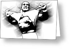 Hulk Hogan By Gbs Greeting Card by Anibal Diaz