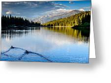 Hume Lake Evening Greeting Card by Terry Garvin