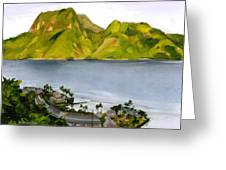 Humid Day In Pago Pago Greeting Card by Douglas Simonson