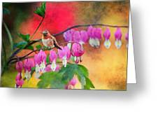 Hummer With Heart Greeting Card by Lynn Bauer