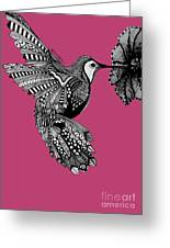 Hummingbird Flight 5 Greeting Card by Karen Larter
