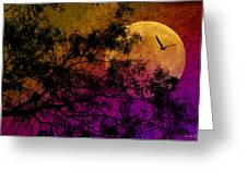 Hunter's Moon Greeting Card by Karen Slagle