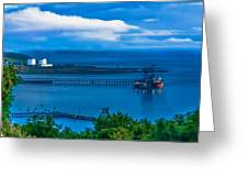 Hunterston Deep Water Terminal Ayrshire Greeting Card by Tylie Duff