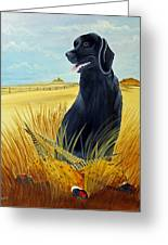 Hunting Day Over Greeting Card by Darlene Prowell