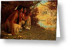 Hunting For Deer Greeting Card by Eanger Irving Couse