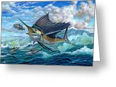 Hunting Sail Greeting Card by Terry Fox
