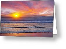 Huntington Beach Drama Greeting Card by Kelley King