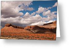 Hurricane Mesa And Dramatic Clouds Virgin Utah Greeting Card by Robert Ford